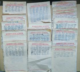 云南中医名家方文才等病历处方资料稿本 [ 实物拍照 看好图下单 售后不退货 16本合售 ]