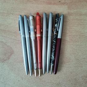 圆珠笔8支,都没有用过,有的没有笔芯,80-90年代的,都是当时很好的,请选择快递运费发货。