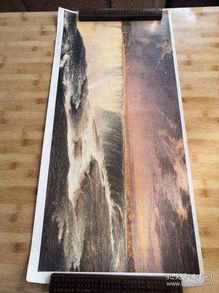 (美)弗雷德里克 伊 丘奇:尼亚加拉大瀑布   馆藏油画精印海报装饰挂画