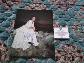 【签名照】索菲亚罗兰签名照,有保真证书,大尺寸约21厘米×28.5厘米