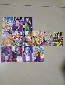 圣斗士 收藏卡13张不重复齐售