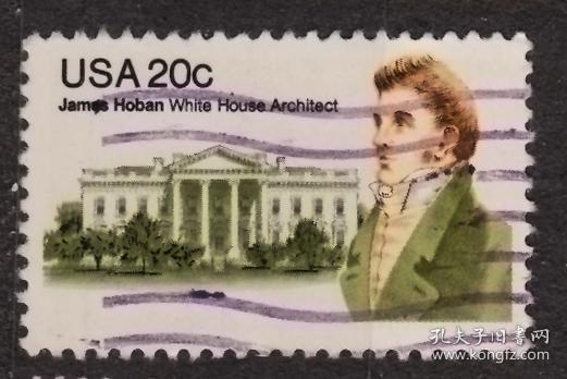 美国邮票----詹姆斯贺朋(信销票)