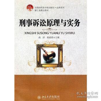 正版现货 刑事诉讼原理与实务 高洁、胡 北京大学出版社 9787301175958 书籍 畅销书