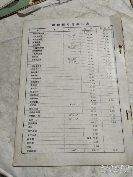 民国。上海建业机器制造有限公司。产品介绍说明书(研究民国上海工业好资料)