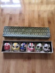 泥人彩塑:脸谱  一盒六个