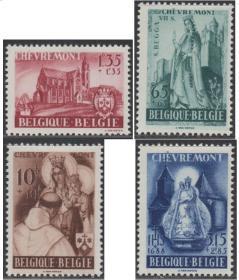 比利时邮票ZD,帮助卡梅利特是切夫雷蒙的父亲,宗教画像和建筑