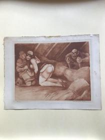 Dr.Jean Morisot莫里斯医生 精品情色蚀刻版画 1 编号10/25  罕见作品