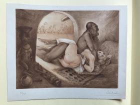 Dr.Jean Morisot莫里斯医生 精品情色蚀刻版画 2 编号10/30  亲笔签名 罕见作品