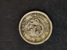 日本明治二十八年 二十钱银币 品相如图,保真,看好再拍,非假不退,可小刀