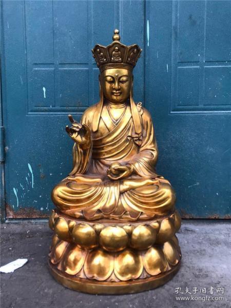 铜鎏金手工打造一尊地藏王