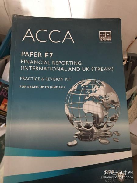 ACCA F7 Financial Reporting  (Revision Kit) 英文版 财务报告 练习册