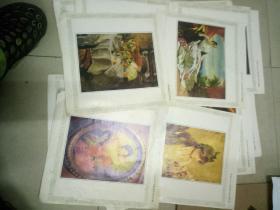 外国名家油画册页20张合售。约12开本无包装