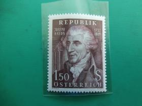 【奥地利全新邮票】作曲家海顿逝世150周年(1枚全)