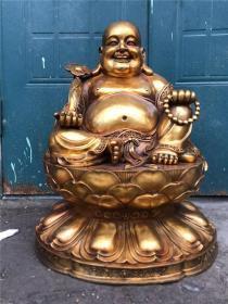 铜鎏金手工打造一尊弥勒佛