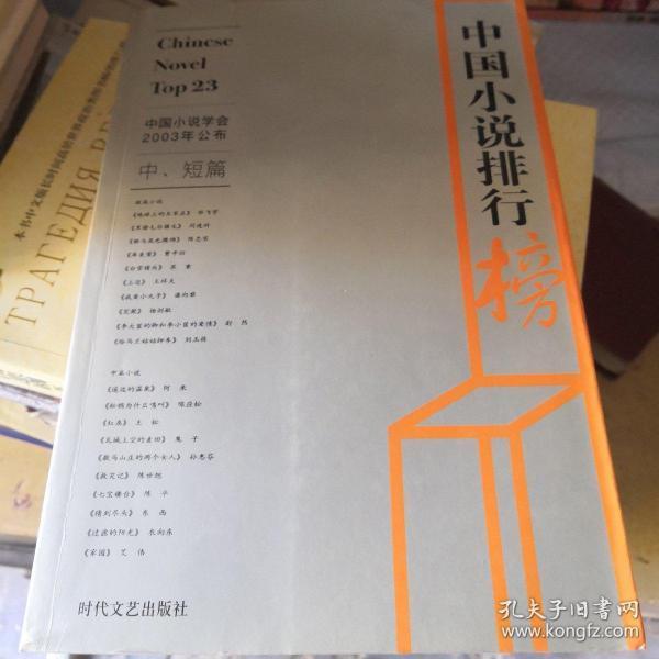 2003年中国小说排行榜(中)短篇