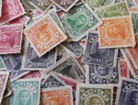 中华民国邮票O,1947--48年限东北贴用,孙中山像,一枚价