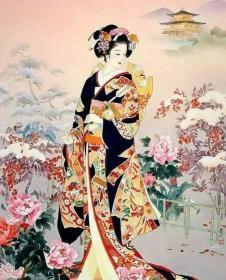 日本精美民族特色美女画作照片32张5吋的