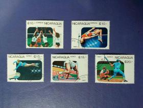 邮票     外国邮票     特销盖销邮票    尼加拉瓜   奥运项目
