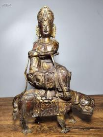 旧藏老铜胎佛像 骑兽度母藏佛一尊恭请供奉佛像摆件112688