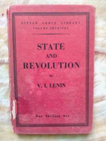 国立西南联合大学图书馆旧藏书:列宁《国家与革命》(俄文版  有西南联大图书馆藏章)