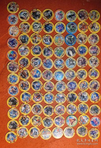 圆形硬卡片(89张)有奥特曼,我的世界,赛尔号,王者荣耀,绝地求生)