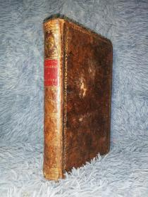 1797年 ZIMMERMAN ON SOLITUDE OF THE EFFECT OF OCCASIONAL RETIREMENT 含精美插图 全皮装帧  21.5X13.7CM
