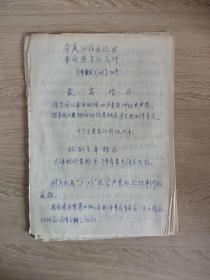 1968年宁夏回族自治区革命委员会文件最高指示《手抄版》