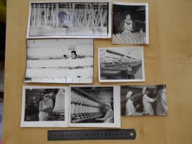 资料室散出,老照片【80年代,化纤厂女工,7张】