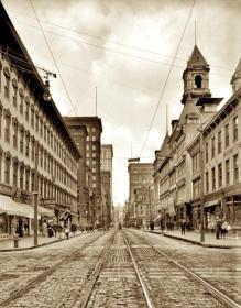 美国城市匹兹堡1908年老照片9张5吋的