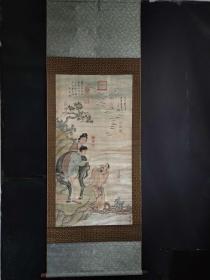 名人手绘人物画长2.25米宽80公分