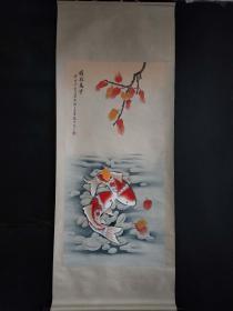 吴青霞手绘腾空万里图2米X0.80米