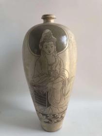 磁州窖绘人物瓶