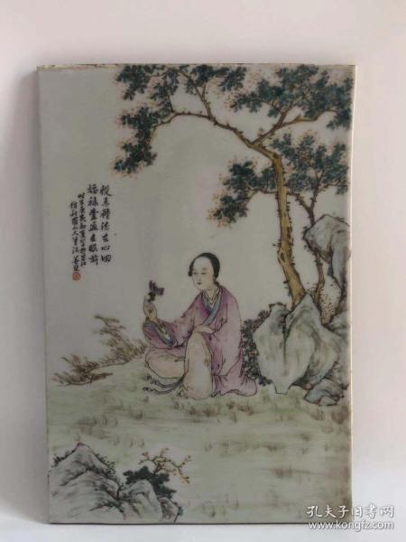 清人物瓷板画