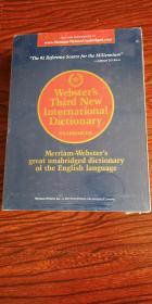 麦林韦氏国际词典(第三版)英文原版 工具书 英语词典