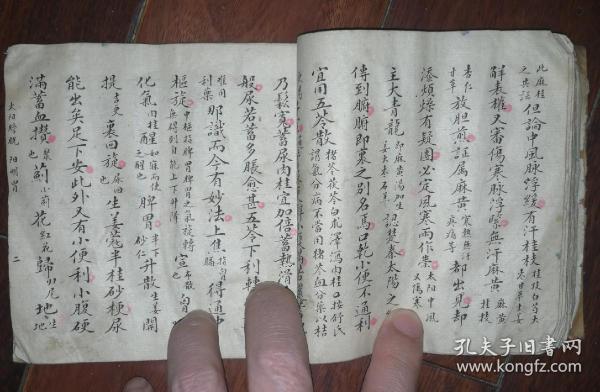 清或民樊郁周手抄脉学方面内容,书法一流