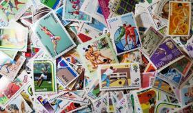 外国邮票,各国体育足球奥运会,体育运动专题,一枚价,随机发货