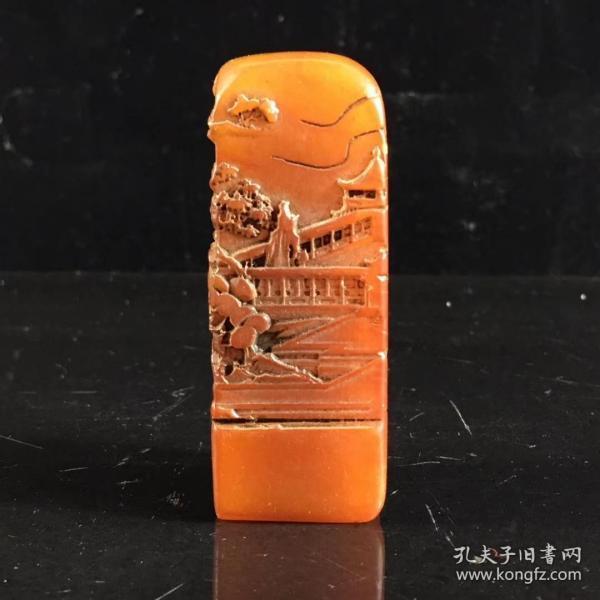 寿山石印章一块,雕刻精美,保存完好,喜欢的联系