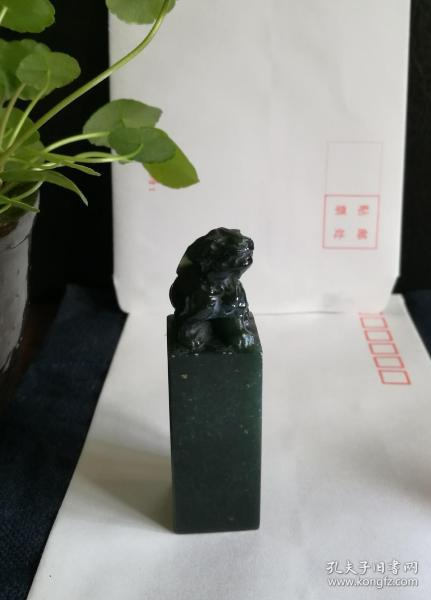 00156(西安倔性绿)瑞兽钮章