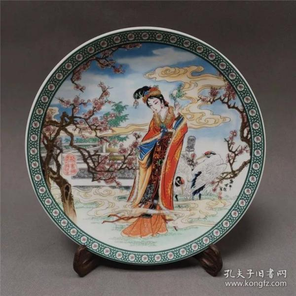 清 康熙粉彩人物仙女图瓷盘