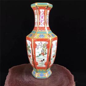 乾隆年制十二生肖粉彩花瓶