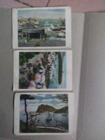 老明信片 旅大市邮电局(大连星海公园 大连海港 大连老虎滩 )3张合售