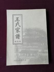 王氏家谱 世系卷