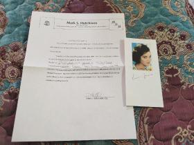 【签名照】曾荣获第33届奥斯卡最佳原创电影歌曲 康妮·法兰西斯 签名照,带保真证书,其代表作有《Stupid Cupid》《Siboney》等