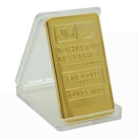 英国纪念币JM方形镀金块金币收藏纪念 外币方形金条金块纪念硬币