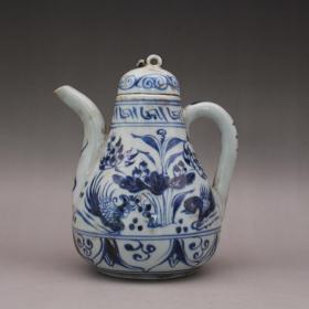 青花玉藻纹 执壶茶壶