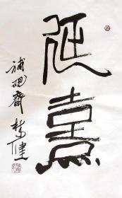 福建名家 林健 篆书小中堂手写书法
