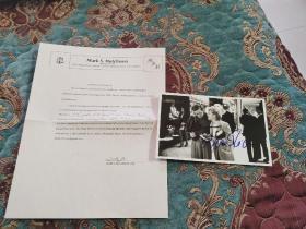【签名照】著名导演 伍迪艾伦 和 贝特米德勒 合签电影《爱情外一章》剧照,附保真证书