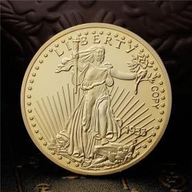 美国行走自由女神纪念金币1933鹰洋金币纪念章 白头鹰硬币信仰
