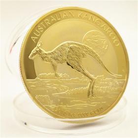2015年世界动物金币 英联邦澳大利亚袋鼠金币澳洲金币100纪念币章