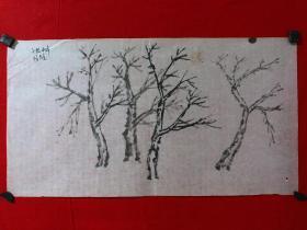 书画原作4341,无款花鸟画习作